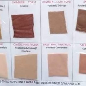 Ballet Tight Colour Chart